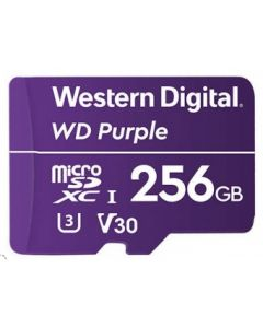Micro SD 256 GB - WD Purple WDD256G1P0A - Video Class V30 / UHS-I U3 - microSDXC - púrpura