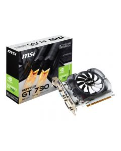 Tarjeta de Video MSI Nvidia GeForce® GT 730 2GB 128-Bit DDR3 96 CUDA Cores PCI Express 2.0