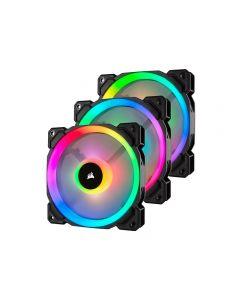 CORSAIR Pack 3 Ventiladores Corsair LL Series LL120 RGB Dual Light Loop, Case Fan 120 mm