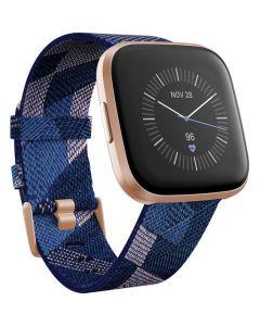 Fitbit Versa 2 | Edición Especial - Smartwatch - Copper rose - woven jacquard - azul marino