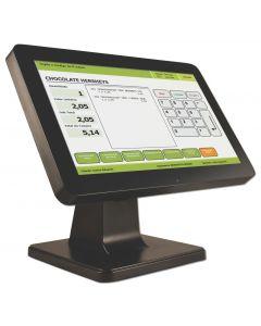 """Monitor LCD - 15.6"""" Touch Bematech LE1015W - Monitor LCD - pantalla táctil - 1366 x 768 - 200 cd/m² - 600:1 - 12 ms - VGA - altavoces - negro"""