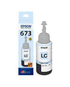 Epson T673 - recarga de tinta cian claro