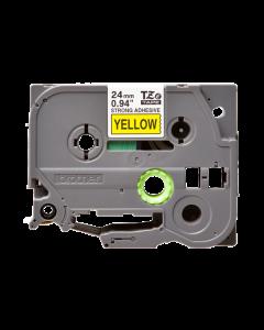 Brother TZeS651 - Adhesivo extrarresistente - negro sobre amarillo - rollo (2,4 cm x 8 m) 1 bobina(s) tipo laminado