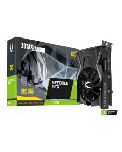 Tarjeta de Video ZOTAC GeForce GTX 1650 OC 4GB GDDR5 128-BIT, Super Compact, FireStorm Utility - PCIe 3.0 x16 - DVI, HDMI, DisplayPort